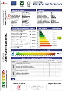 Attestato di certificazione energetica validità